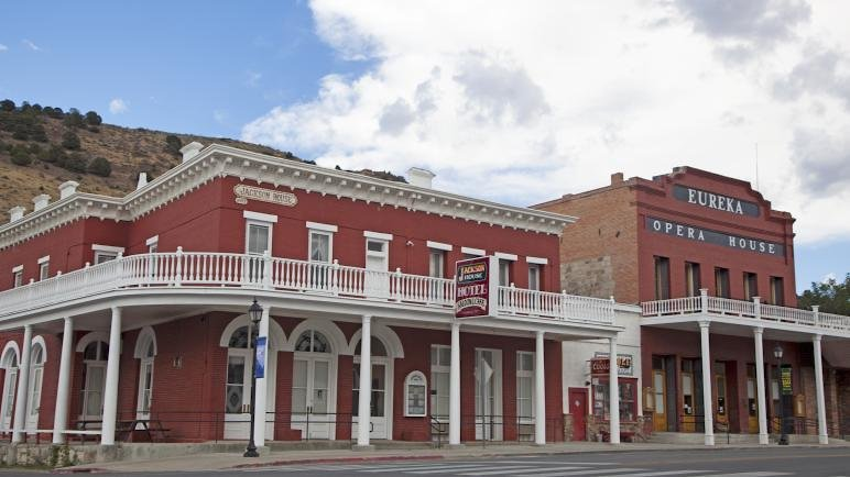 Jackson House Hotel and Eureka Opera House in Eureka, Nevada