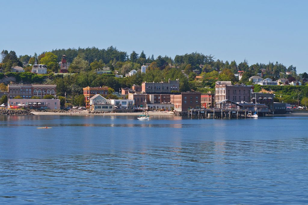 Lookout from the water at the waterfront in Port Townsend, Wash.
